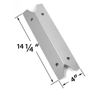 Replacement Stainless Steel Heat Shield for Brinkmann 810-9210-S, 910-9210S, 810-9410S, 810-9410-S, 810-9510S, 810-9510-S, 810-9211S, Charmglow and Outdoor Gourmet Gas Grill Models