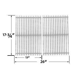 2 Pack Replacement Stainless Steel Cooking Grid for Perfect Flame SLG2007B, SLG2007BN, 63033, 64876 and BBQTEK GSF2818K, GSF2818KL Gas Grill Models