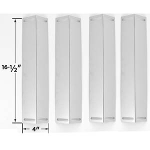 4 Pack Replacement Stainless Steel Heat Shield for Uniflame GBC1076WE-C, GBC976W, Charbroil, Brinkmann & Master Chef Gas Grill Models