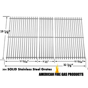 3 Pack Replacement Stainless Steel Cooking Grid for Members Mark M3206ALP, M3206ANG, M3207ALP, M5205ALP, M5205ANG, MONARCH04ALP and Kenmore 141.16655900, 141.17677 Gas Grill Models