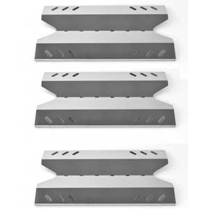 3 Pack Replacement Stainless Steel Heat Plate for BBQ Pro, Kenmore 119.166750, 119.176750, 166750, 176750, BQ06W03-1, Members Mark, Sams Club and Outdoor Gourmet Gas Grill Models