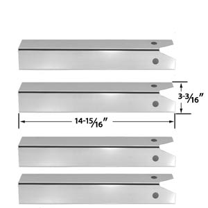 4 Pack Replacement Stainless Steel Heat Plate for CFM TG475-2, Uniflame and Lynx L27-2-2010, L27F-2-2010, L27FR-2-2010, L27PSFR-2-2010 Gas Grill Models