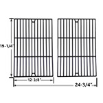 2 Pack Replacement Porcelain Cast Iron Cooking Grids for Weber Genesis E-320, E-320 2007, E310, E310 2007, E320, E320 2007, EP-310, EP-310 2007, EP-320, EP-320 2007, EP310 2007 Gas Grill Models