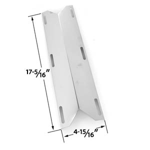 Replacement Stainless Steel Heat Shield for Charmglow 720-0304, 720-0396, HD 720-0304, Permasteel PG-50400S & Presidents Choice PC10011016 Gas Grill Models