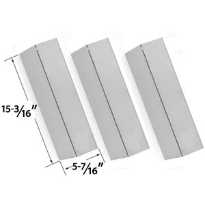 3 Pack Replacement Stainless Steel Heat Plate for Sonoma SGR30MLP, Coleman 9998, Tuscany CS784LP, CS892LP, SGR30MLP, SH-CS812LP, Sure Heat for Costco CS784LP, CS892LP Gas Grill Models