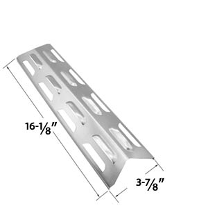 Stainless Steel Replacement Heat Shield / Heat Plate for Kenmore 119.16433010, 119.16434010, 119.16658010, 119.16240, Master Forge B10LG25, Perfect Flame and BBQTEK Gas Grill Models