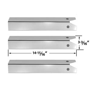 3 Pack Replacement Stainless Steel Heat Plate for CFM, Uniflame GBC750W-C, GBC750W, GBC750WNG-C, GBC850W, GBC850W-C, GBC850WNG-C, NSG3902B, Wellington, GNSG3902B Gas Grill Models
