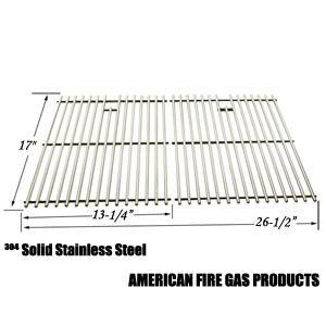 2 Pack Replacement Stainless Steel Cooking Grid for Kenmore 122.16119, 122.16129, 122.16641900, 122.16641901, 16641, 415.16107110, 720-0341, 720-0549, 415.1610621, 720-0670A Gas Grill Models