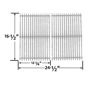 2 Pack Replacement Stainless Steel Cooking Grid for Ducane 1500, 1502, 1502HLP, 1502HLPE, 1502HN, 1502HNE, 1502SHLPE, 1502SHNE, 1504, 1504S, 1504SHLPE, 1504SHNE, 5002 Gas Grill Models