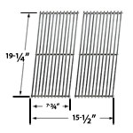 2 Pack Replacement Stainless Steel Cooking Grid for Perfect Flame GSC3318, Perfect Flame GSC3318N, Perfect Flame 25586, Perfect Flame 225203 Gas Grill Models