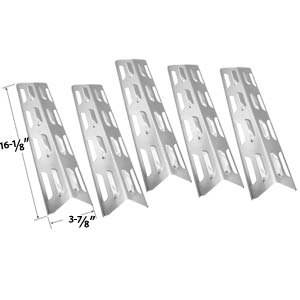 5 Pack Replacement Stainless Steel Heat Shield / Heat Plate for Backyard Classic BY12-084-029-97, Master Forge B10LG25, Presidents Choice 09011020 and Lowes SLG2007D, SLG2007DN Gas Grill Models