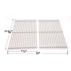 2 Pack Replacement Stainless Steel Cooking Grid for BBQ Grillware GSC2418, GSC2418N-102056 and Perfect Flame 13133, 225152, 61701, 2518SL, SLG2007A Gas Grill Models