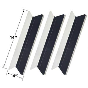 3 Pack Replacement Stainless Steel Heat Plate for Presidents Choice SSS34146TCS & Tera Gear GSF3916 Gas Grill Models