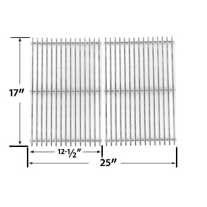 2 Pack Replacement Stainless Steel Cooking Grid for Charbroil 463250509, 463250510, 461262409 and Broil-mate 8218TEXAN25, 8248TEXAN50 Gas Grill Models