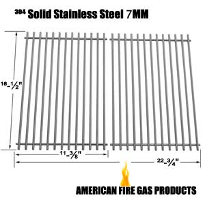 Replacement 2 Pack Stainless Steel Cooking Grid for Ellipse 2000LP, 2000NG, 2001LP, 2001NG, 2101, 2102, 2103, Kenmore 2104, 2105, 141.152271, 141.15337 Gas Grill Models