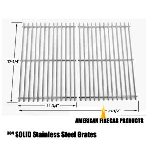 Replacement Heavy Duty Stainless Steel Cooking Grate for Weber 9930, Spirit E-310, Spirit SP-310, Spirit 700, Genesis Silver B & C, Genesis Gold B & C, Genesis Platinum B & C Gas Grill Models, Set of 2